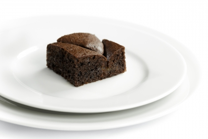 Brownie with apricot puree